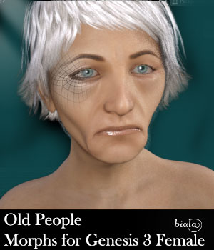 Old People Morphs For Genesis 3 Female 3D Figure Assets biala