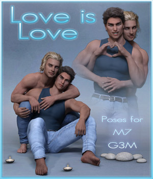 Love is Love - Couple poses for G3M and M7 3D Figure Assets ilona