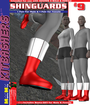Kitbashers G3 ShinGuards-009 3D Figure Assets MightyMite