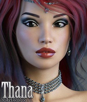 3DSS Thana for Genesis 8 Female 3D Figure Assets Silver
