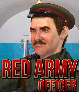 Red Army: Officer 3D Figure Assets Cybertenko