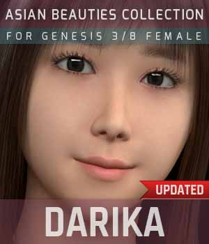 Darika G3F for Genesis 3 Female 3D Figure Assets gravureboxing