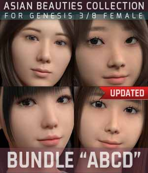 BUNDLE Asian Beauties Collection ABCD  3D Figure Assets gravureboxing