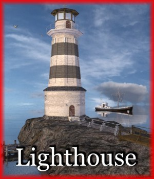 Lighthouse for Poser 3D Models mausel