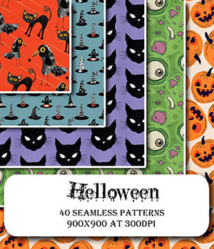 Helloween :: Seamless Patterns 2D Graphics Merchant Resources Cyrax3D