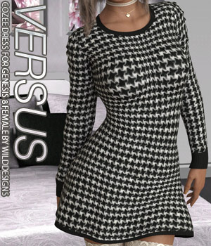 VERSUS - CoZee Dress for Genesis 8 Female(s) 3D Figure Assets Anagord