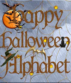 Harvest Moons Happy Halloween Alphabet 2D Graphics Merchant Resources Harvest_Moon_Designs