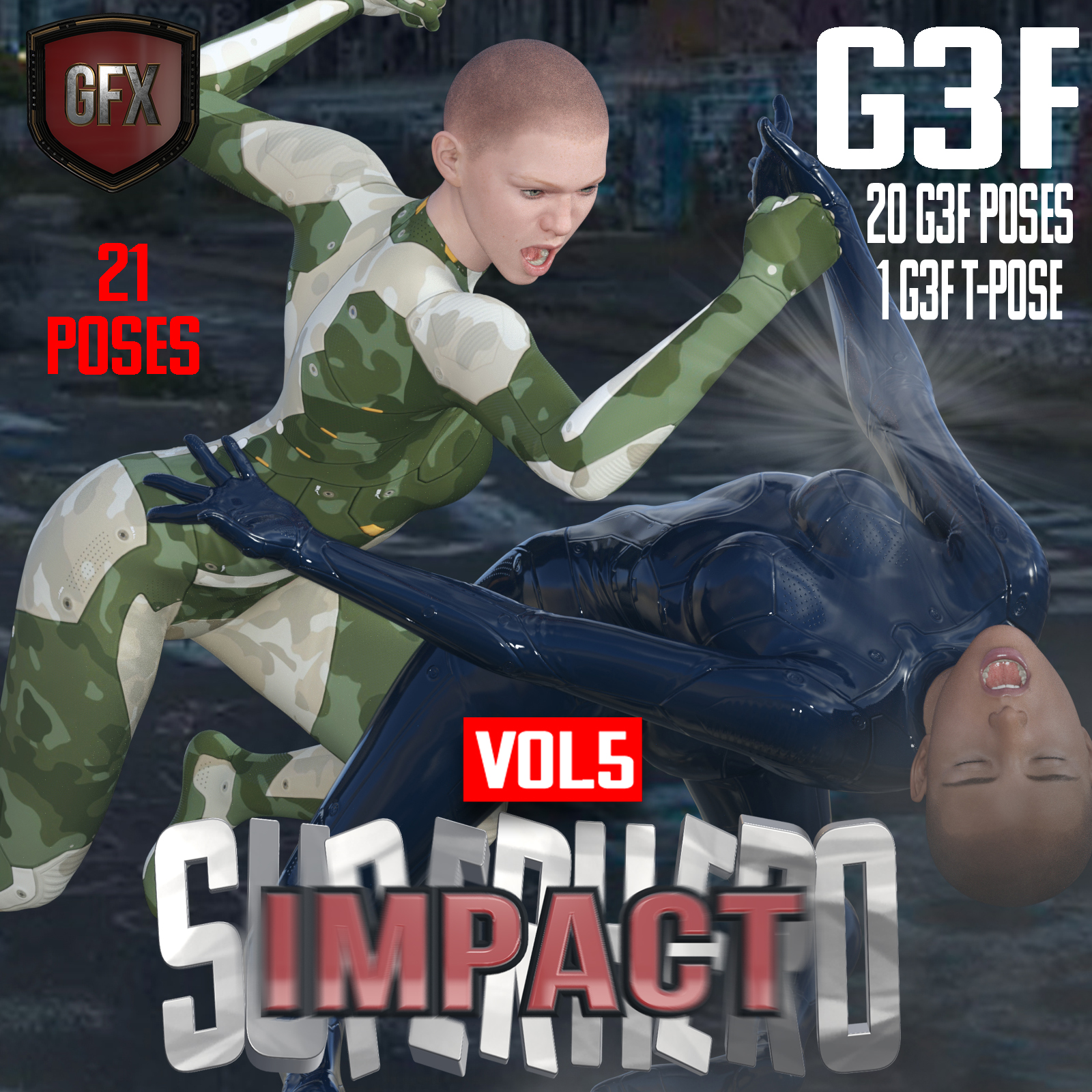 SuperHero Impact for G3F Volume 5 by GriffinFX
