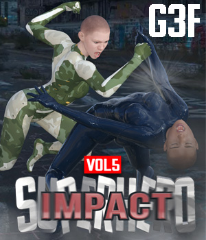 SuperHero Impact for G3F Volume 5 3D Figure Assets GriffinFX