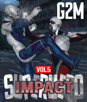 SuperHero Impact for G2M Volume 5 3D Figure Assets GriffinFX
