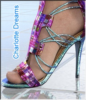 Charlotte-Dreams - for Charlotte High Heels 3D Figure Assets LUNA3D