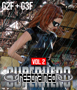 SuperHero Restrained for G2F and G3F Volume 2 3D Figure Assets GriffinFX