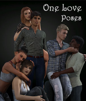 One Love Poses for Genesis 8 Couples 3D Figure Assets aeris19