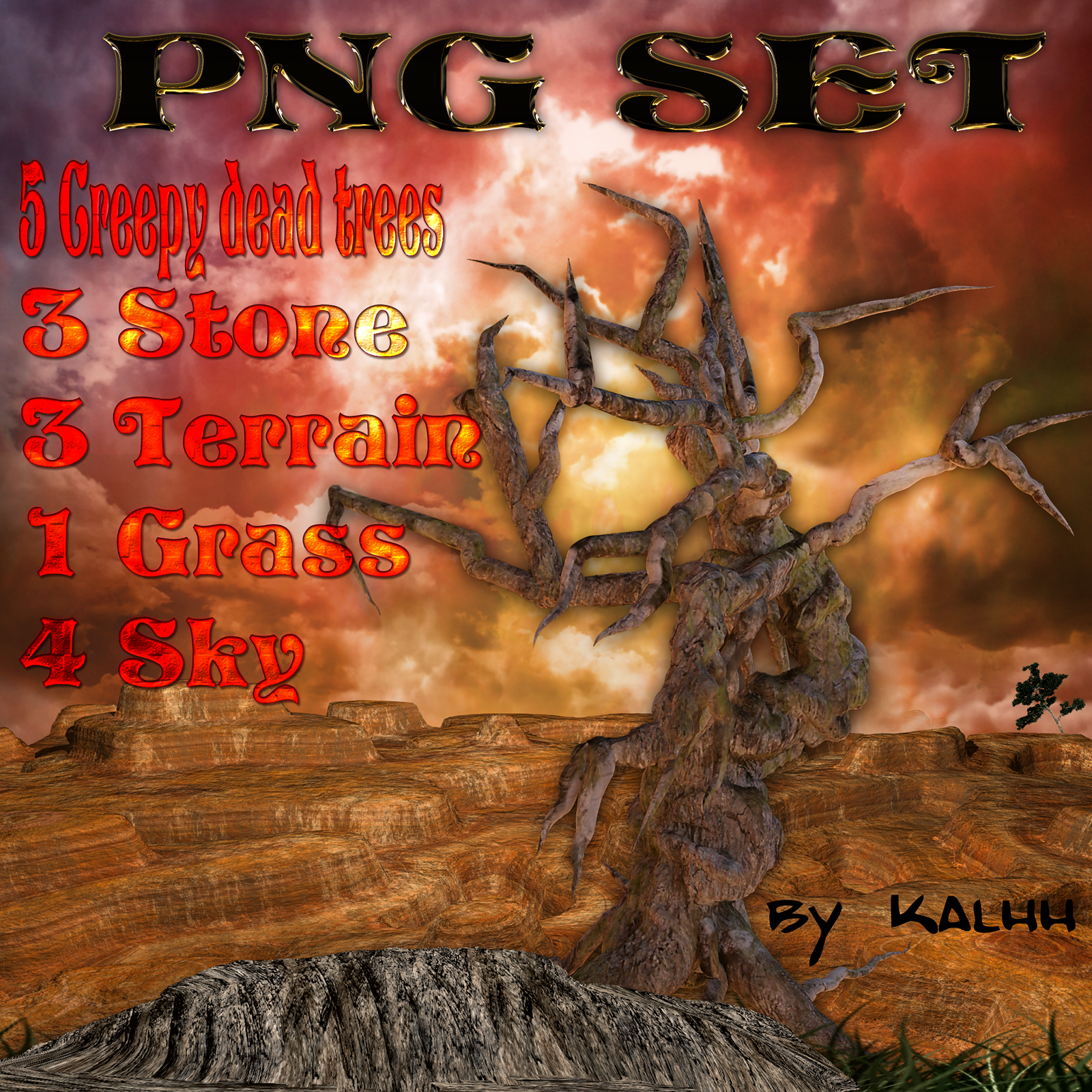 creepy_png_set