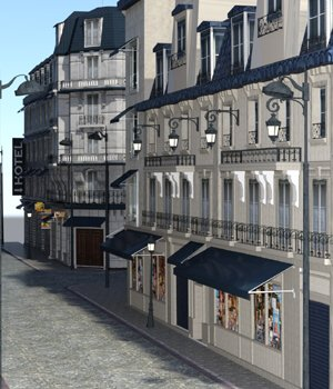 European Street - for DAZ Studio  3D Models VanishingPoint