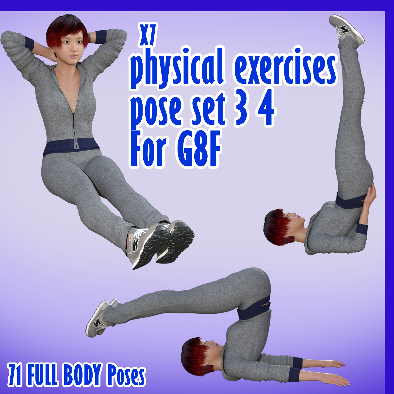 X7 physical exercises poses set 3 4 for G8F