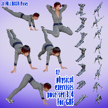X7 physical exercises poses set 3 4 for G8F image 2