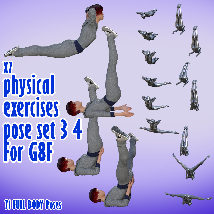 X7 physical exercises poses set 3 4 for G8F image 3