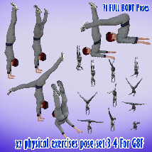 X7 physical exercises poses set 3 4 for G8F image 4