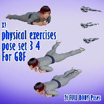 X7 physical exercises poses set 3 4 for G8F image 6