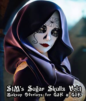 S1Ms Sugar Skullz Vol.1 3D Figure Assets 3D Models sixus1