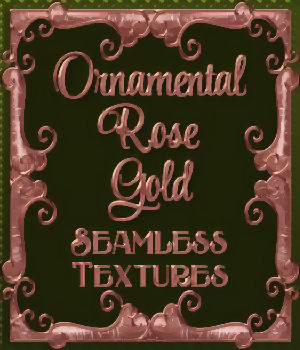 Ornamental Rose Gold Seamless Textures 2D Graphics Merchant Resources fractalartist01