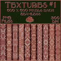 Ornamental Rose Gold Seamless Textures image 1
