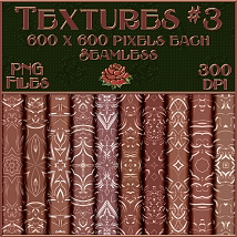 Ornamental Rose Gold Seamless Textures image 3