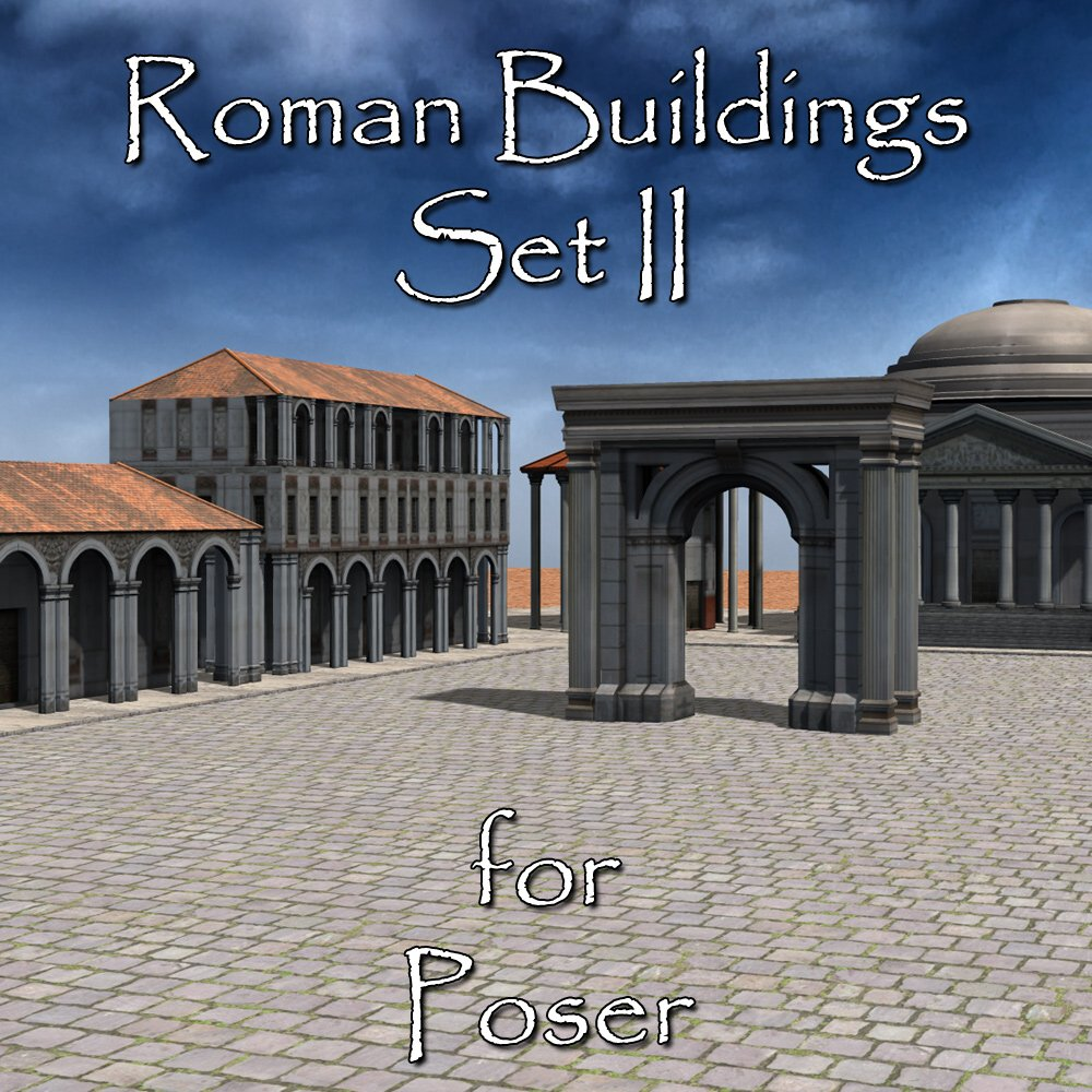 Roman Buildings Set II  for Poser  - Extended License