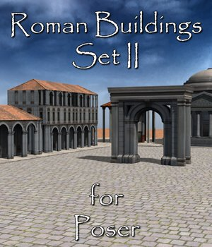 Roman Buildings Set II  for Poser  - Extended License 3D Models Extended Licenses VanishingPoint