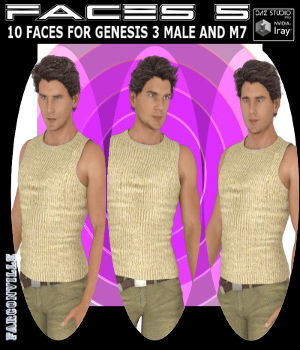 Faces 5 for Genesis 3 Male and Michael 7 3D Figure Assets farconville