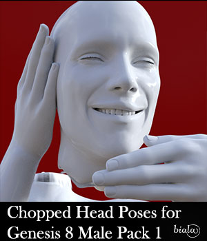 Chopped Head Poses for Genesis 8 Male Pack 1 3D Figure Assets biala