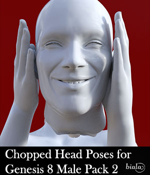 Chopped Head Poses for Genesis 8 Male Pack 2 3D Figure Assets biala