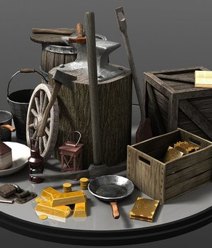 Tools Containers - Extended License 3D Game Models : OBJ : FBX 3D Models Extended Licenses dexsoft-games