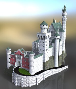 Neuschwanstein Castle - for DAZ Studio  3D Models VanishingPoint