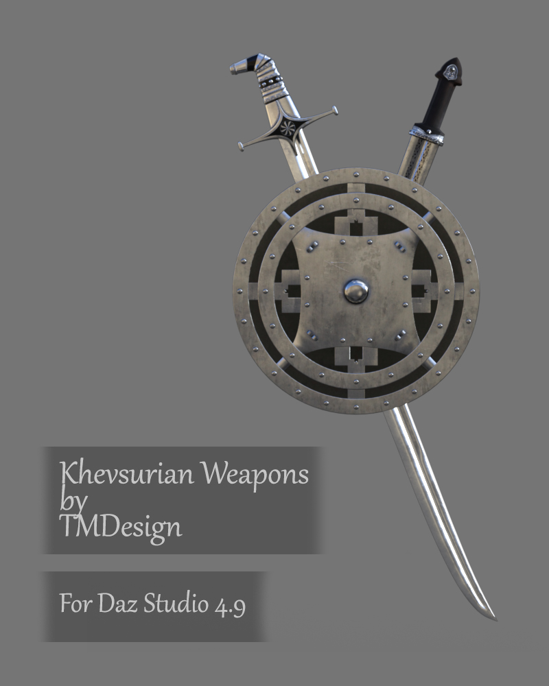 Khevsurian Weapons for Daz Studio
