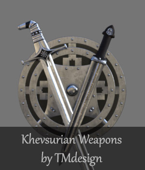 Khevsurian Weapons for Daz Studio 3D Models TMDesign