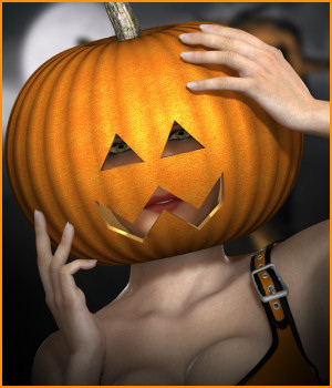 Pumpkin Love V4 3D Models -Wolfie-