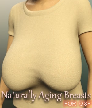 Naturally Aging Breasts for G8F 3D Figure Assets AliveSheCried