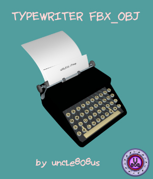 Typewriter_Old FBX OBJ 3D Models uncle808us