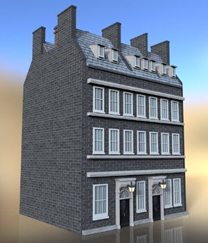 No 10 Downing Street - for DAZ Studio  3D Models VanishingPoint