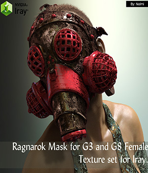 Ragnarok Mask for G3 and G8 Female Texture Set 3D Figure Assets nelmi