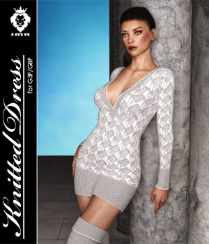 JMR Knitted Dress for G3F/G8F 3D Figure Assets JaMaRe