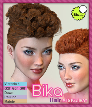Biscuits Bika Hair 3D Figure Assets Biscuits