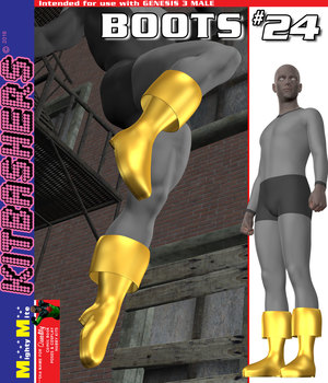 Kitbashers G3M Boots-024 3D Figure Assets MightyMite