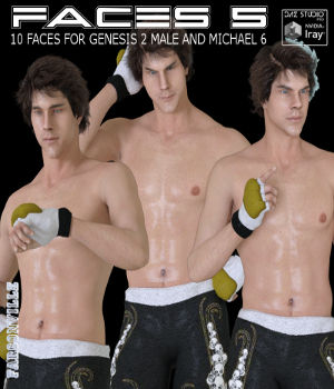 Faces 5 for Genesis 2 Male and Michael 6 3D Figure Assets farconville