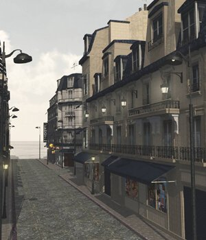 European Street - for Vue  3D Models VanishingPoint