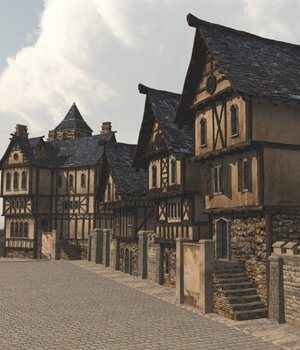 Medieval Street - for Vue  3D Models VanishingPoint