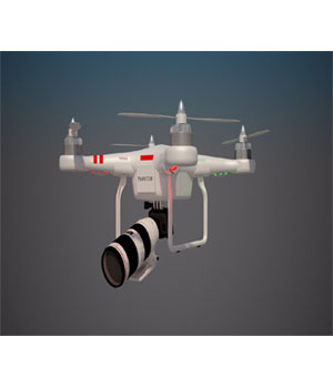 Dron Animated 3D Game Models : OBJ : FBX 3D Models wilson1