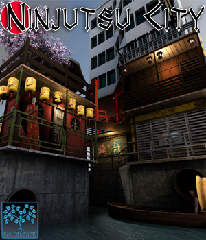 Ninjutsu City 3D Models BlueTreeStudio